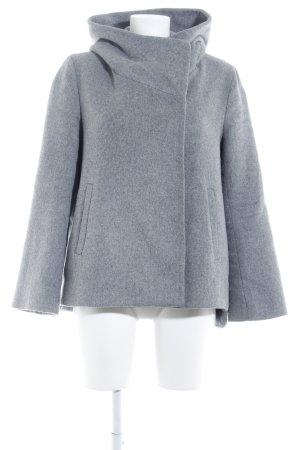 Zara Basic Korte Jas grijs casual uitstraling