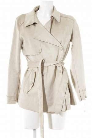 Zara Basic Kurzmantel hellbeige Casual-Look