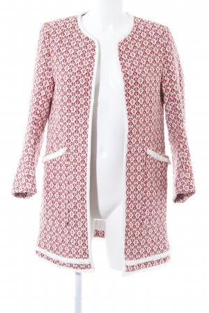 Zara Basic Short Coat ikat pattern casual look