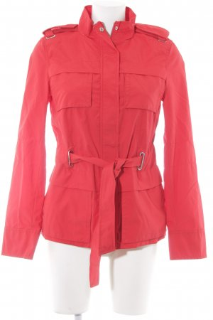 Zara Basic Kurzmantel rot Casual-Look