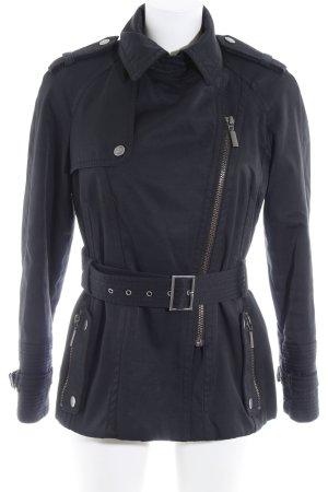 Zara Basic Kurzmantel schwarz Casual-Look