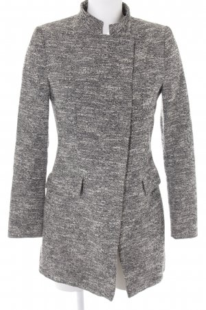 Zara Basic Kurzmantel schwarz-weiß meliert Casual-Look