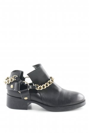 Zara Basic Short Boots black-gold-colored casual look