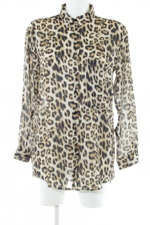 Zara Basic Langarm-Bluse Leomuster extravaganter Stil