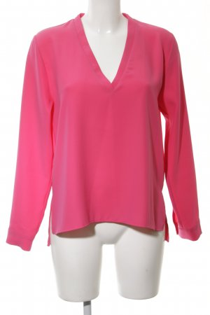 Zara Basic Langarm-Bluse pink Business-Look