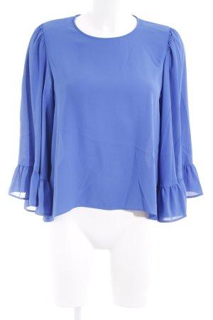 Zara Basic Langarm-Bluse blau Elegant