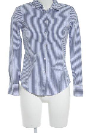 Zara Basic Langarm-Bluse blau-weiß Streifenmuster klassischer Stil