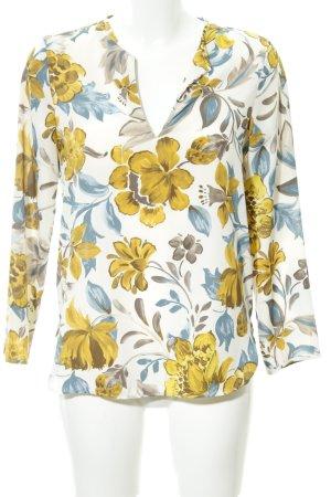 Zara Basic Langarm-Bluse Blumenmuster Casual-Look