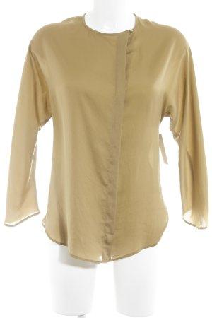 Zara Basic Langarm-Bluse camel Business-Look