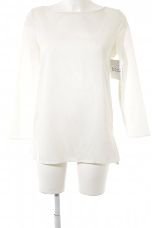 Zara Basic Langarm-Bluse creme Elegant