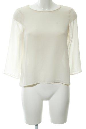 Zara Basic Blouse à manches longues crème style simple