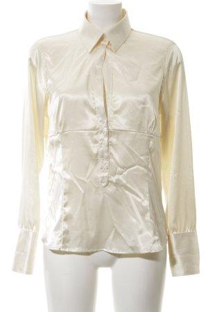 Zara Basic Langarm-Bluse creme Business-Look