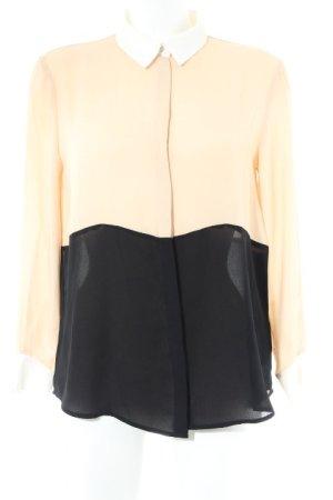 Zara Basic Langarm-Bluse Farbverlauf Elegant