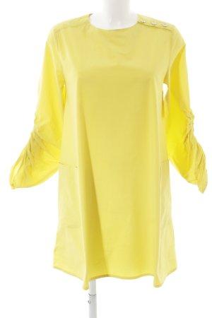 Zara Basic Langarm-Bluse gelb schlichter Stil