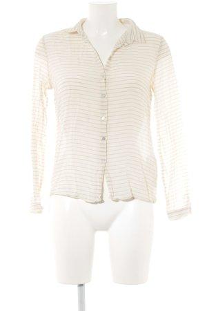 Zara Basic Langarm-Bluse hellgelb-camel Streifenmuster Business-Look