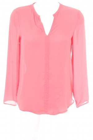 Zara Basic Langarm-Bluse hellrot Business-Look
