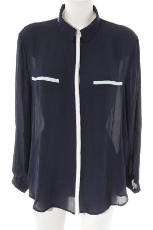 Zara Basic Langarm-Bluse mehrfarbig Casual-Look