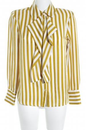 Zara Basic Langarm-Bluse sandbraun-weiß Streifenmuster Street-Fashion-Look