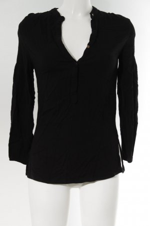 Zara Basic Long Sleeve Blouse black business style
