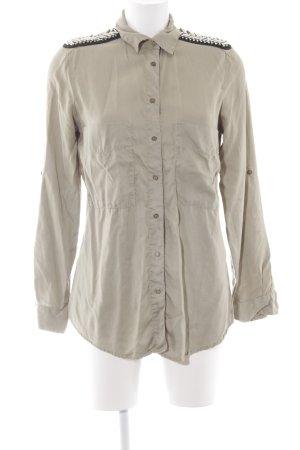Zara Basic Langarmhemd grüngrau extravaganter Stil