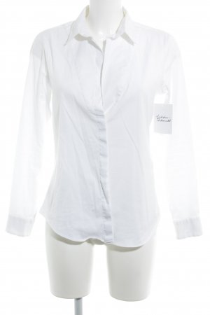 Zara Basic Langarmhemd weiß Casual-Look