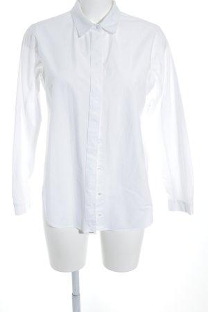 Zara Basic Langarmhemd weiß klassischer Stil