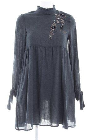 Zara Basic Langarmkleid anthrazit extravaganter Stil