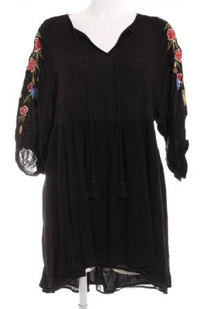 Zara Basic Langarmkleid Blumenmuster Casual-Look