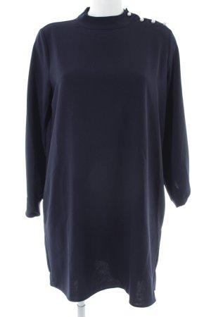 Zara Basic Langarmkleid blau Allover-Druck Casual-Look