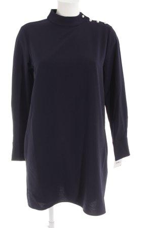Zara Basic Langarmkleid dunkelblau Elegant