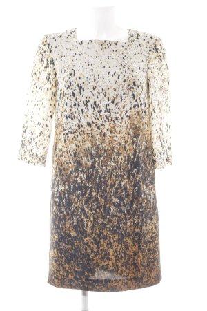 Zara Basic Jurk met lange mouwen kleurvlekken patroon elegant
