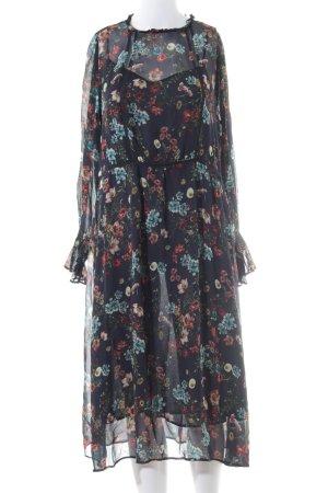 Zara Basic Langarmkleid florales Muster Romantik-Look