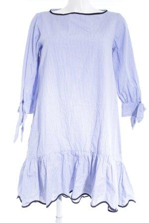 Zara Basic Langarmkleid kornblumenblau-weiß Streifenmuster Casual-Look