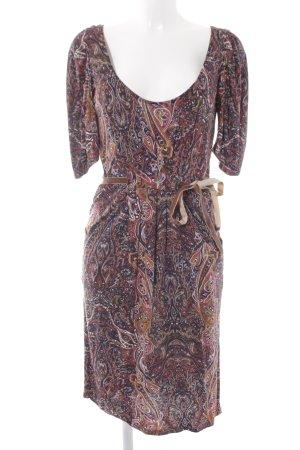 Zara Basic Langarmkleid Paisleymuster extravaganter Stil