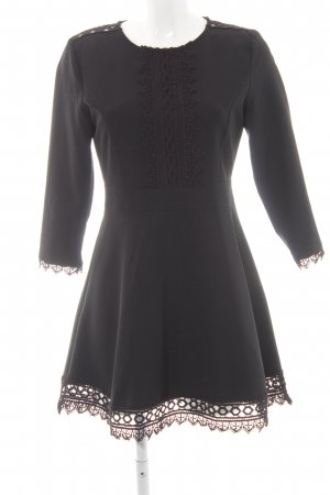 Zara Basic Langarmkleid schwarz Elegant