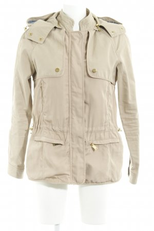 Zara Basic Lange Jacke beige Casual-Look