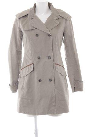 Zara Basic Lange Jacke beige schlichter Stil