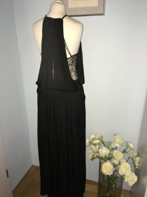 Zara Basic Vestido largo negro