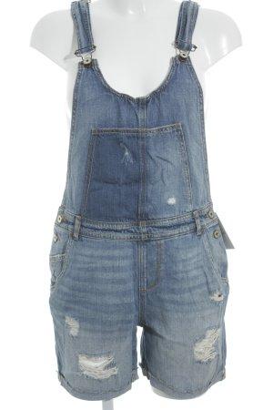 Zara Basic Latzhose blau Casual-Look