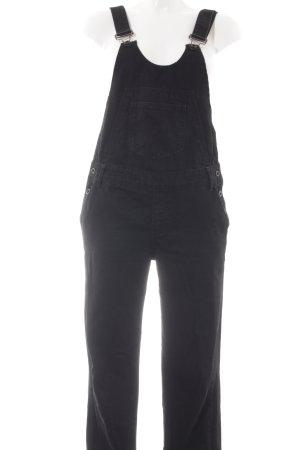 Zara Basic Latzhose schwarz Casual-Look