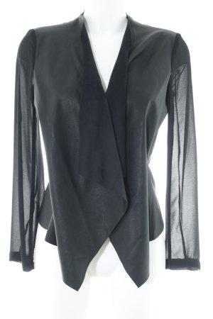 Zara Basic Blouse en cuir noir style décontracté