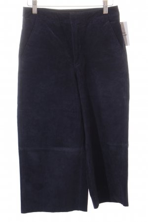 Zara Basic Lederhose blau Street-Fashion-Look