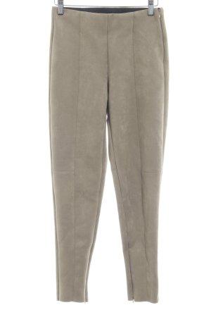 Zara Basic Pantalone in pelle color cammello stile casual