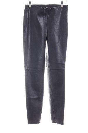 Zara Basic Leren broek zwart Biker-look