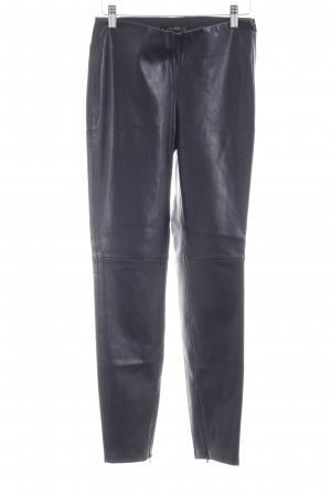 Zara Basic Lederhose schwarz Biker-Look