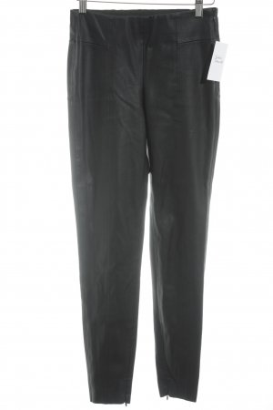 Zara Basic Leather Trousers black casual look