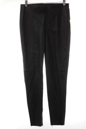 Zara Basic Pantalón de cuero negro look casual