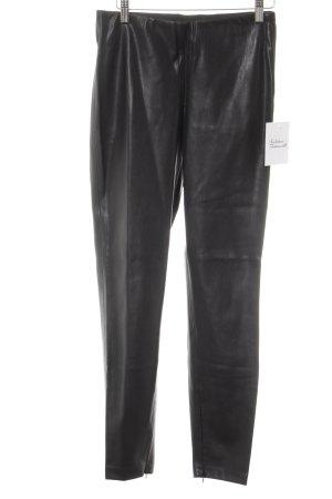Zara Basic Pantalón de cuero negro look de cuero