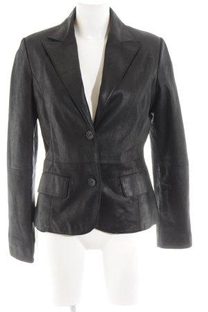 Zara Basic Chaqueta de cuero negro elegante