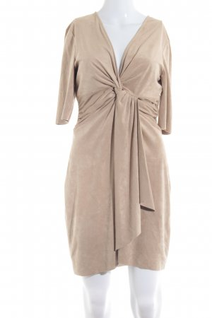 Zara Basic Lederkleid beige Casual-Look